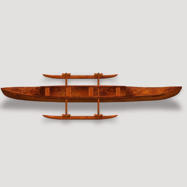 3ds max canoe wood
