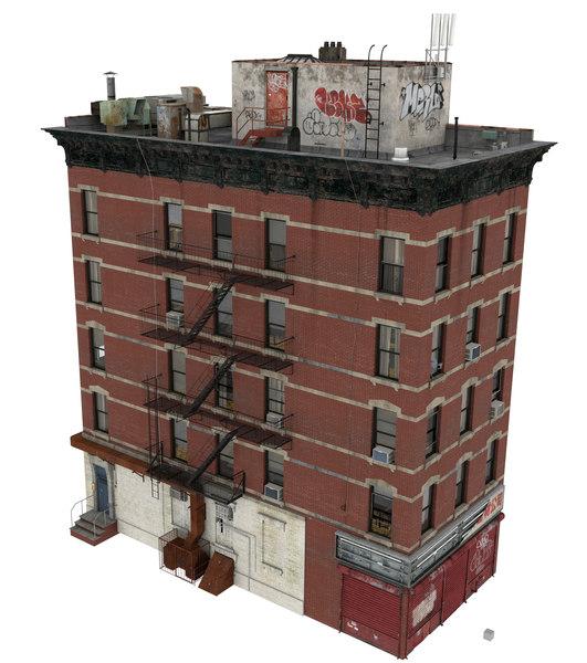 3d building apartment model