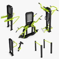 3d outdoor gym equipment