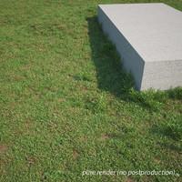 3d realistic grass