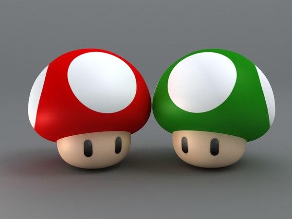 3d model mario mushroom