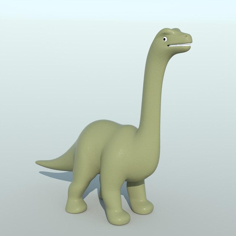 3d small brontosaurus toy