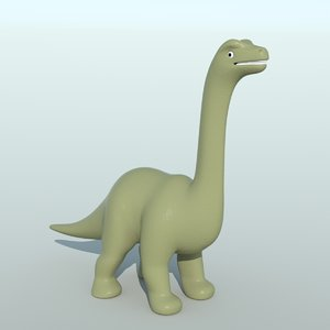 3d small brontosaurus toy