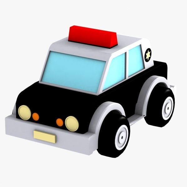 3d max police car toy