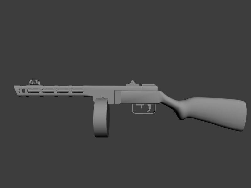 soviet gun world 3d model