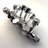 v12 crankshaft 3d model