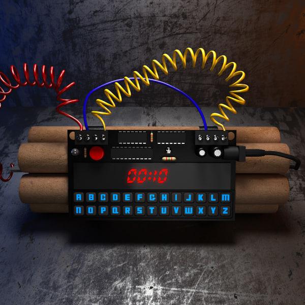 3d time bomb model