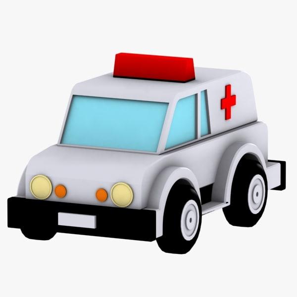 3d ambulance toy