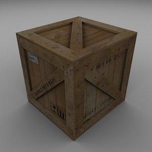 wood carton 3d max