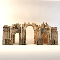 south gate jerash 3d max
