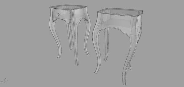3d moda midnight table