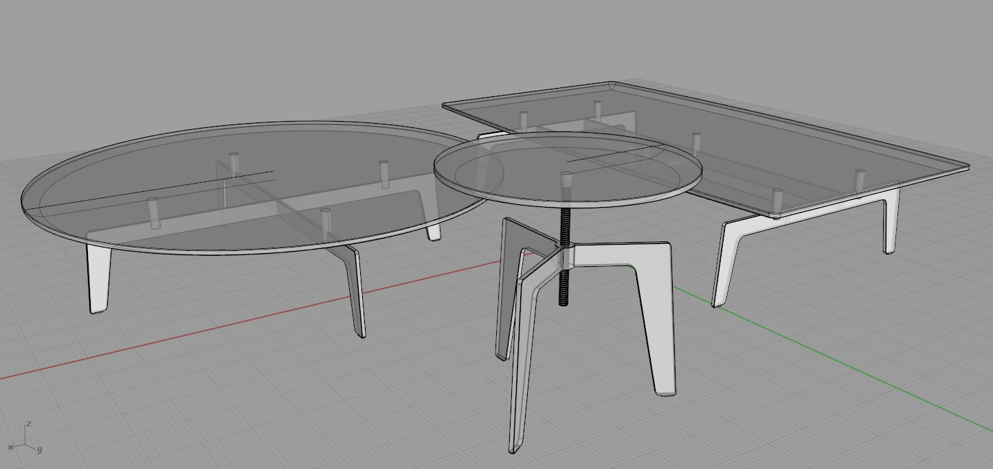 poliform tribeca coffee tables obj