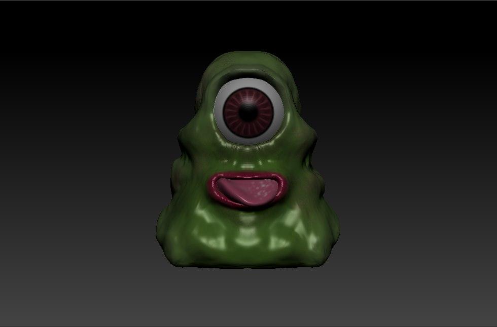 free anime creature 3d model