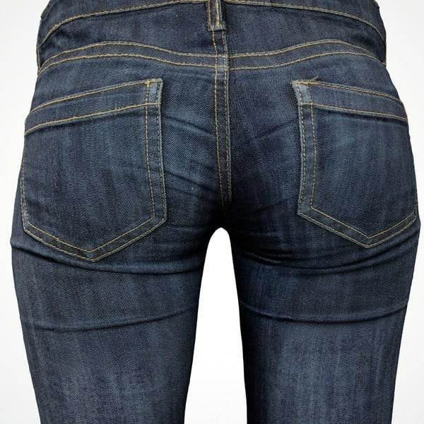 3d model jeans pants