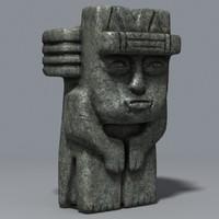3dsmax mayan sculptures