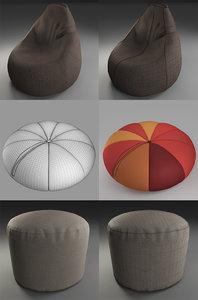 3d model poufs