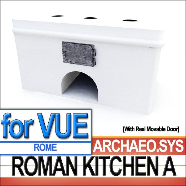 3d model roman kitchen ancient rome