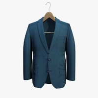 blue jacket coat hanger 3ds