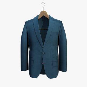 blue jacket coat hanger 3ds