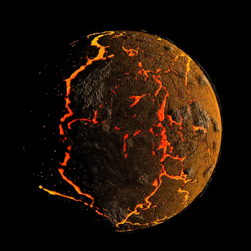 cracked earth planet 3d max