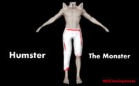 3d monster human