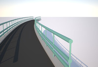 3d pedestrian bridge model