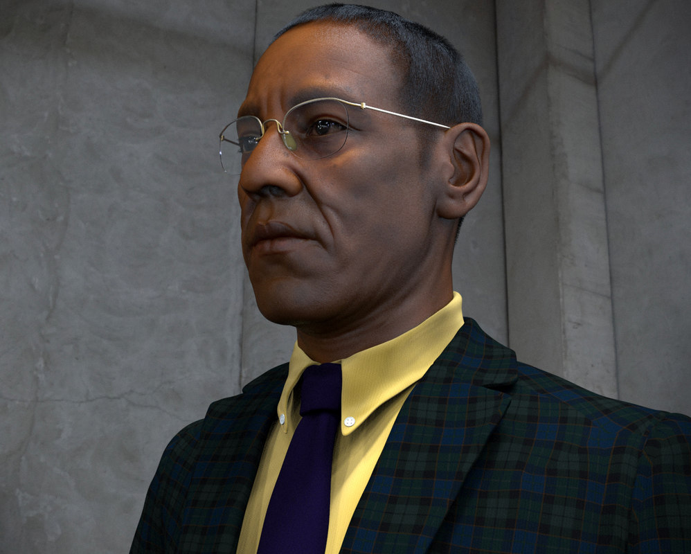 3d portrait giancarlo esposito model