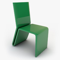 3d plastic chair model