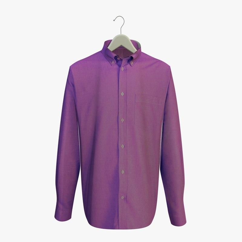 purple shirt hanger 3d model