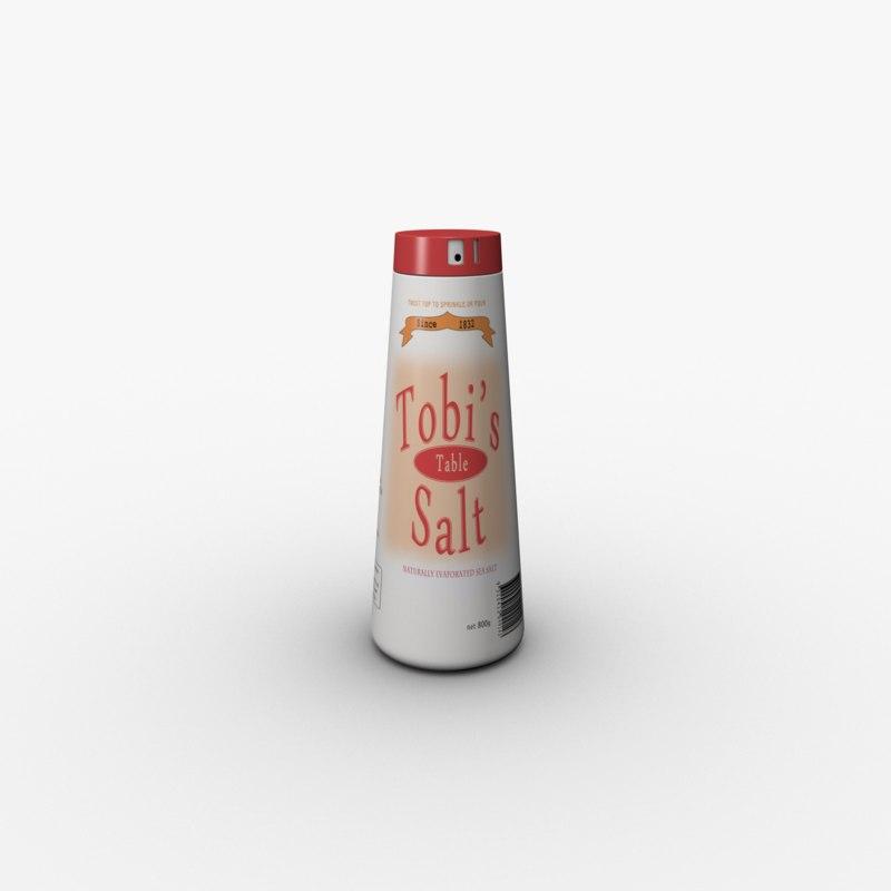 obj plastic salt shaker