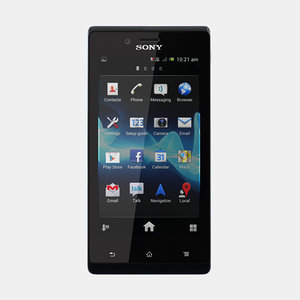 3d 3ds sony xperia j mobile phone
