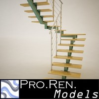 Stair for architectural interiors 006