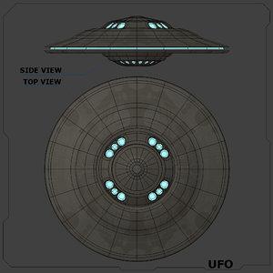 3d model ufo