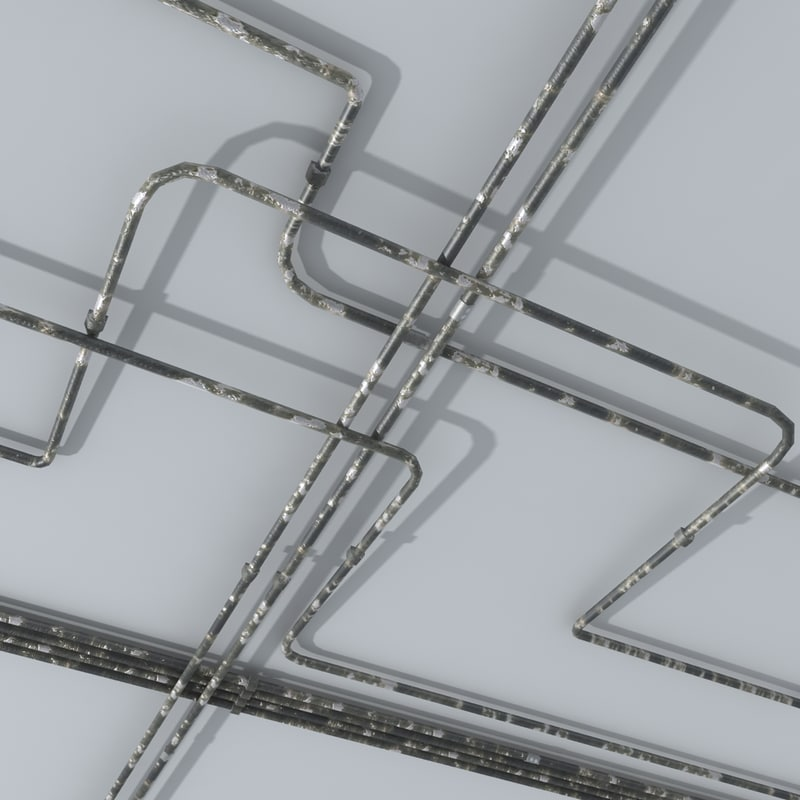 gas water pipes 3d model