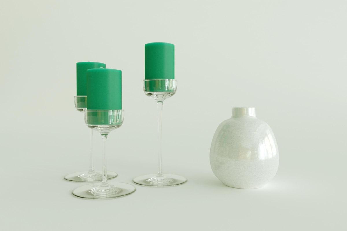 free vase candel 3d model