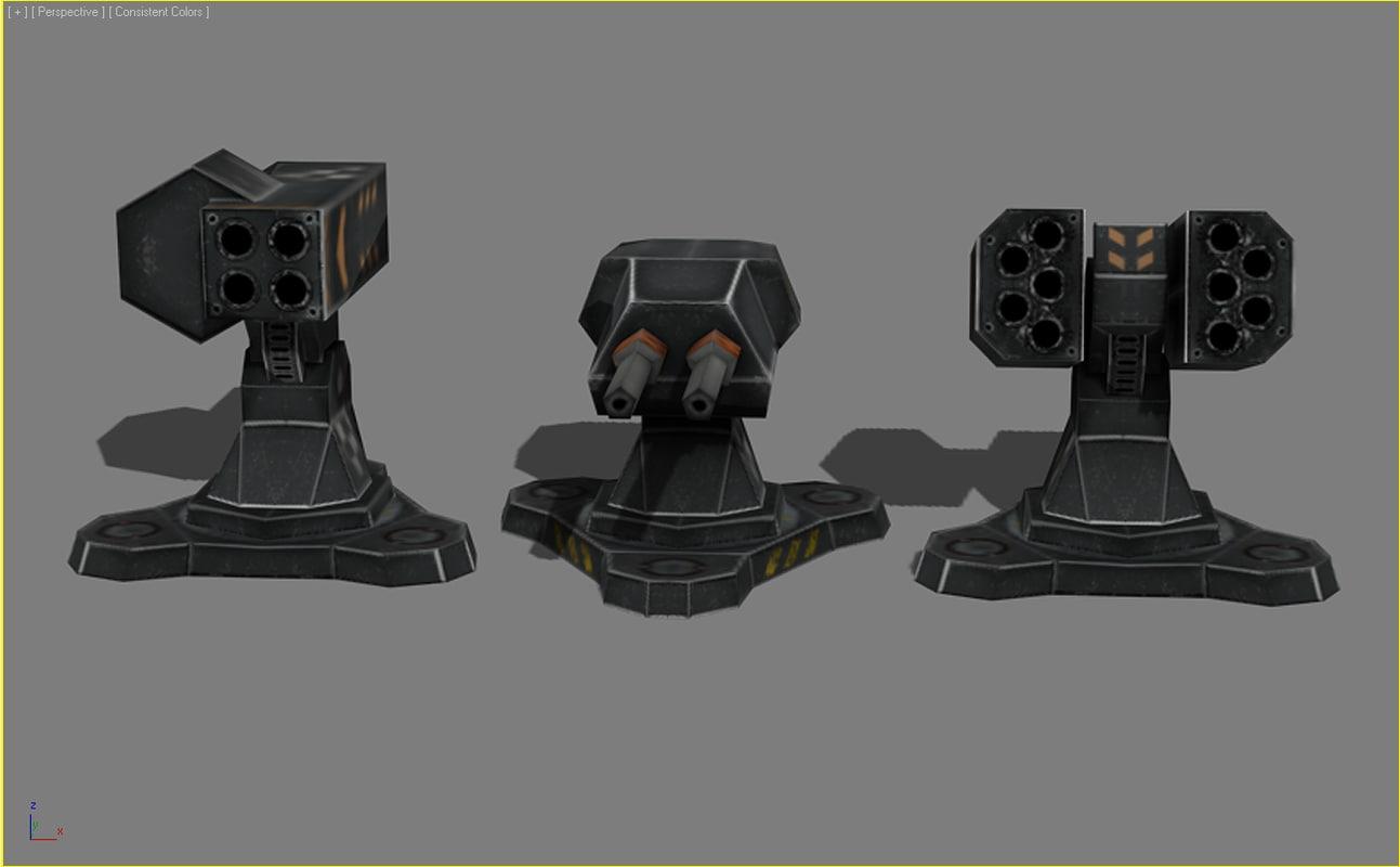 3ds max turrets mobile