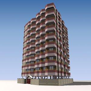 3ds max apartment building