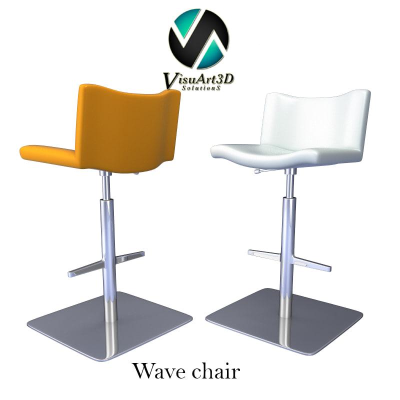 wave chair materials 3d model