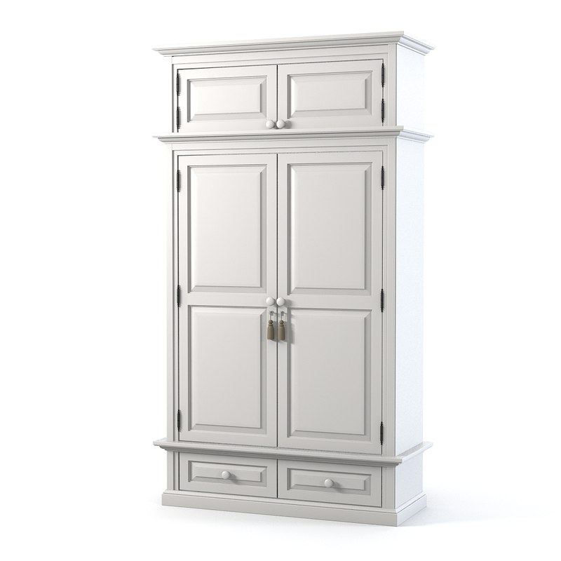 bedroom traditional armoire obj