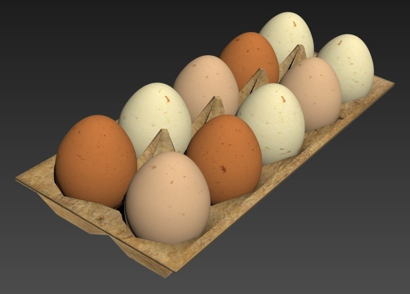 3d model eggs box carton