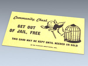monopoly jail card 3d model