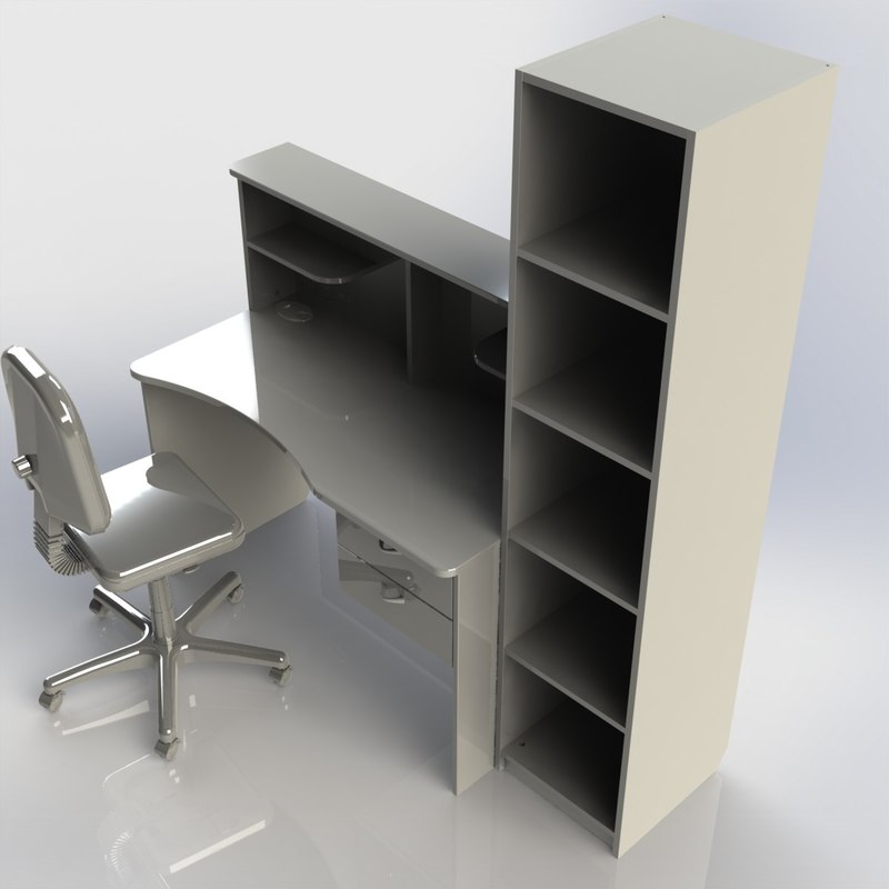 3d table furniture writing desk