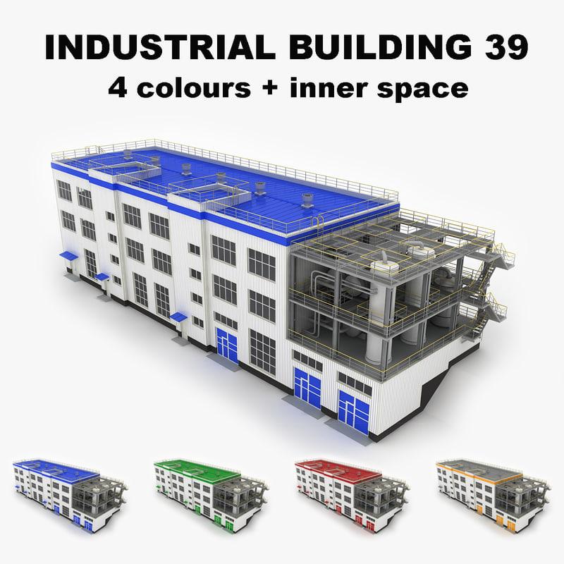 medium industrial building 39 3d model