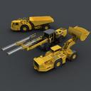 Underground Mining Vehicles Pack