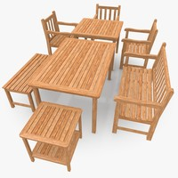 3ds max garden patio furniture scene