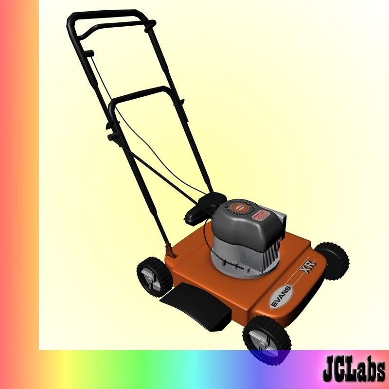 3d model lawn mower lawnmower