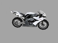 low poly sport bike 7