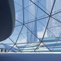 futuristic cityscape buildings