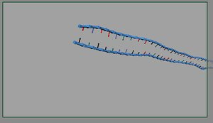 maya rigged dna helix