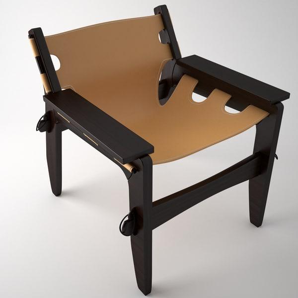 chair sergio rodrigues 3d max